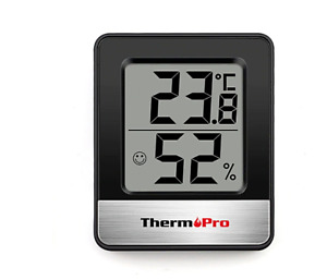 TP49 Mini Weather Station Black White Room Thermometer Hygrometer Home Tool