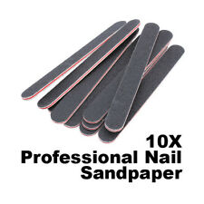 10x Professional Sanding Nail File Nail Art Buffer Salon Glitter Sandpaper Tools