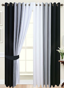 Black And White Lined Curtains For