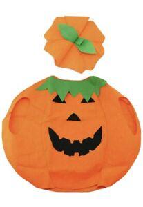 Halloween  Kids Pumpkin Fancy Dress Costume Horror Outfit Spooky Lantern