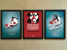 "3pcs Solid frame - 006 Sneakers Air Jordan Shoes 12""x16"" Minimalist Poster Frame"
