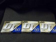 JVC mini DV 60 minute tapes (3)