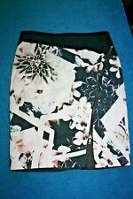 Portmans Multi-Coloured Floral Stretch Pencil Skirt Size 12