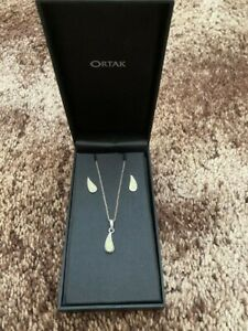 Ortak silver necklace & earrings set Fully boxed brand new