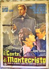 MANIFESTO ORIG. IL CONTE DI MONTECRISTO 61 Le comte de Monte-Cristo AUTANT-LARA