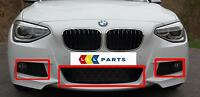 BMW NEW GENUINE 1 F20 F21 12-15 FRONT M SPORT BUMPER LOWER GRILL SET OF THREE
