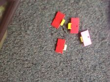 Toy lego 4 red medieval/ castle doors played with