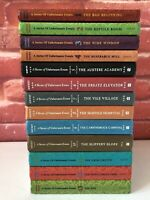 Lemony Snicket A Series Of Unfortunate Events Books 1-13 Full Set Hardback VGC!