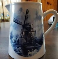 Holland Delft Blue/Blauw Ter Steege BV Windmill Creamer Collectable Vintage