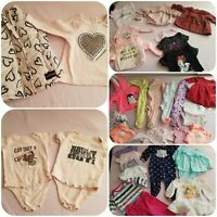 Baby Girl 3-6 months Clothing lot 36 items*CALVIN KLEIN*GAP*DISNEY*CARTERS**Etc.