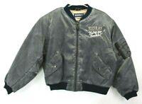"""Mixed Blues Adult Medium Vintage """"Flying for Freedom"""" Long Sleeve Bomber Jacket"""