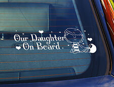 Static Cling Window Car Sign/Decal Sticker Our Daughter On Board Lil Girl