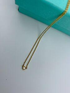 Authentic Tiffany Co. Elsa Peretti Single Diamond By The Yard 18K Yellow Gold