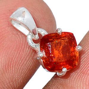 Orange Kyanite 925 Sterling Silver Pendant Jewelry BP95997