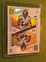 ANTONIO BROWN PRIZM REFRACTOR 2018 Donruss Elite Deck #ED-6 SP Aces SSP STEELERS