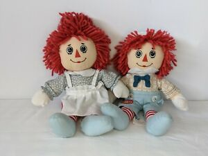 Raggedy Ann and Andy 95th Anniversary Rag Doll Stuffed Toys by Applause 2010