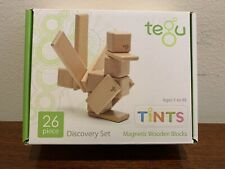 New! Tegu Tints 26 Pc. Discovery Set Magnetic Wooden Blocks. Educational Toy.