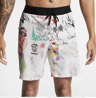 "Hurley  Mens Phantom Hyperweave Doom 18"" Boardshorts Swimsuit Bottoms SIZE 28"