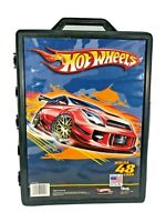 Hot Wheels Molded Plastic 48 Car Case with Handle Tara Toy Corp Mattel Vintage