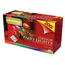 Christmas Tree Fairy Lights (21.4m) 200 Multi Coloured With Spare Bulbs Indoor