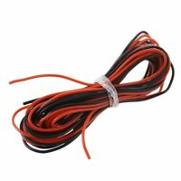 2x 3M 24 Messgeraet AWG Silikon Gummi Draht Kabel rot schwarz flexibel [Son W4U9