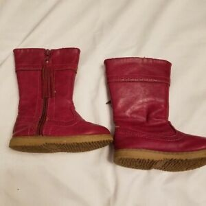 Cynthia Rowley Pink Toddler Faux leather boots 6