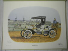 DON ENSOR Riding in Style Unframed Print 17 1/2 x 23 Pencil Signed 1909 Model T
