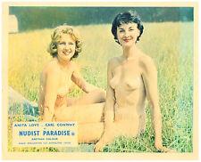 Nudist Paradise 1959 Nature's Paradise Anita Love and nudist woman romp in grass