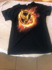 Hunger Games Mockingjay Large Women's Black Tshirt Movie Book