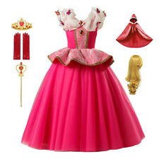 Princess Aurora Dress up Sleeping Beauty for Girls Short Sleeve Party Clothing