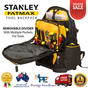 Stanley FatMax Tool Backpack Heavy Duty Laptop Multiple Back Compartment Storage