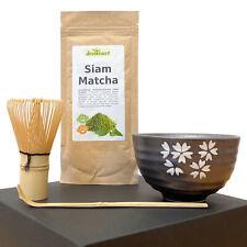 Matcha-Tee-Set: Schale, Besen, Löffel, 50g feinster Hochland-Matcha, Geschenkbox