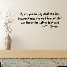 Dr Seuss Be Who You Are Quote Vinyl Wall Decal Sticker Decor Nursery Doctor W80