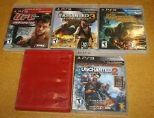 PS3 5 GAME LOT 3 UNCHARTED GAMES UFC 2009 CABELAS 2011 FREE SHIPPING