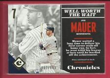 Joe Mauer ⚾ 2017 Panini Chronicles GOLD Card 32 Ser #'d / 999 💥 Minnesota Twins