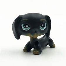 Littlest Pet Shop #325 LPS Animal Loose Toy Chien Teckel Black Dachshund Dog Kid