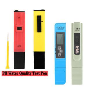 TDS PH Test Meter LCD Digital / PH Test Papier For Aquarium Pool Hydroponic New