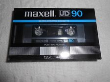 NEW MAXELL UD 90 ULTRA DYNAMIC CASSETTE TAPE