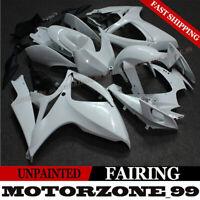 Unpainted White Injection Fairing Bodywork Kit For Suzuki GSXR600/750 2006-2007