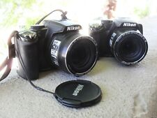 TWO NIKON COOLPIX P100 10mp 26X ZOOM FOR PARTS/REPAIR