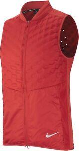 $180 NEW Nike Men's Aeroloft Running Grey Goose Down Reflective Vest 928501 642