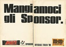 X1455 Mars and M & M's Sponsor Italy'90-Advertising 1990-Vintage Advertising