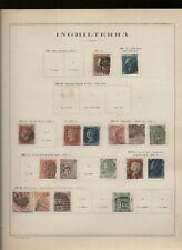 Gran Bretagna 1841/29 Collezione usata del periodo su vecchi fogli d'album N2163