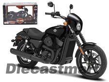 MAISTO 1:12 32333 2015 HARLEY DAVIDSON STREET 750 DIECAST MOTORCYCLE BLACK