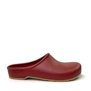 Sloggers Womens Slip-On Red Clogs Garden Yard Work Rain Shoes Size US 9 EU 39