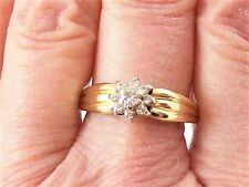 Shank' Diamond Ring, Size 7 3/4 Art Deco 14K Yellow Gold 'Triple