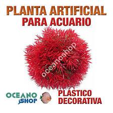 PLANTA ARTIFICIAL 10CM ROJA DECORACIÓN ACUARIO PECERA PLASTICO DIÁMETRO D80