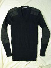 Cold Weather Commando Military Sweater Tactical Black V-neck Soft Feel L Long