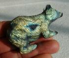 Rainbow Full Flash Labradorite Gemstone Hand Carved Mouse Sculpture