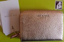 Ted Baker Rose Gold Leather Zip Round Mini Purse / Wallet BOXED